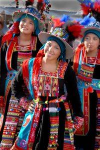 Bolivian dancers, Columbia Pike Festival, Arlington, Virginia. PHOTO BY LLOYD WOLF.