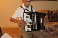 Al Elko playing the accordion.