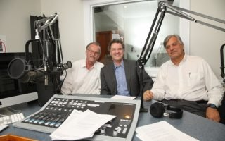 <p>The American History Guys in the studio.</p>