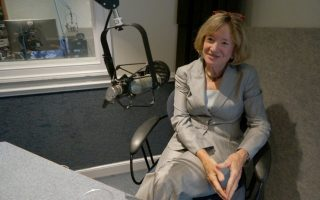 <p>Marcie Simms in the VFH studio</p>