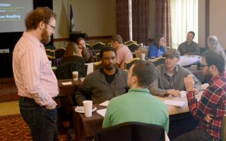 Sherod Moses attends Aaron Gustafson's Adaptive Design workshop in 2013.