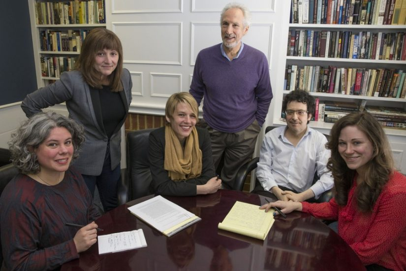 The With Good Reason team:  Lilia Fuquen, Sarah McConnell, Kelley Libby, Andrew Wyndham, Elliot Majerczyk, Allison Quantz Photo by Dan Addison