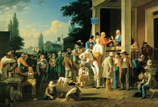 George Caleb Bingham, The County Election, 1852