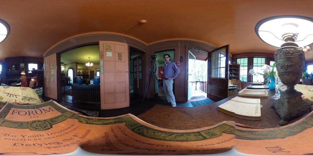Encyclopedia Virginia capturing Google Street View Panoramas at the Anne Spencer House and Garden Museum in Lynchburg