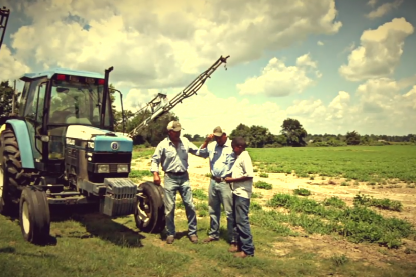 Three generations of peanut farmers, Wooten farm in Surry County.  Photo courtesy of Amy Drewry and Felice Hancock.
