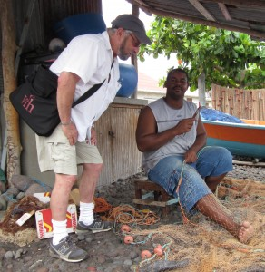 July 2011: Jerome Handler visits Dominica, West Indies