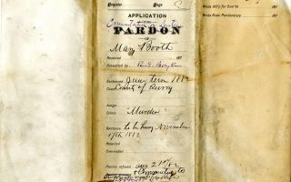 Mary Booth Pardon File, 21 August 1882, Records of the Secretary of the Commonwealth - Library of VA