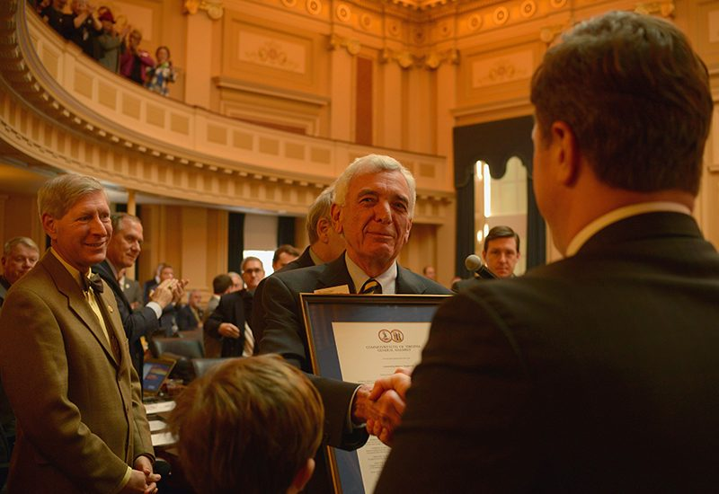 Robert C. Vaughan is honored at the Virginia General Assembly. - Photo by Pat Jarrett