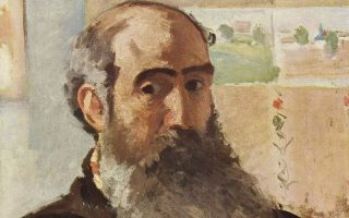 A self portrait of Camille Pissaro - 1873 - via Wikimedia Commons