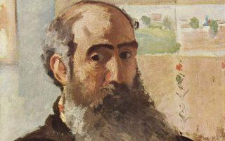 A self portrait of Camille Pissaro - 1873 - via Wikimedia Commons