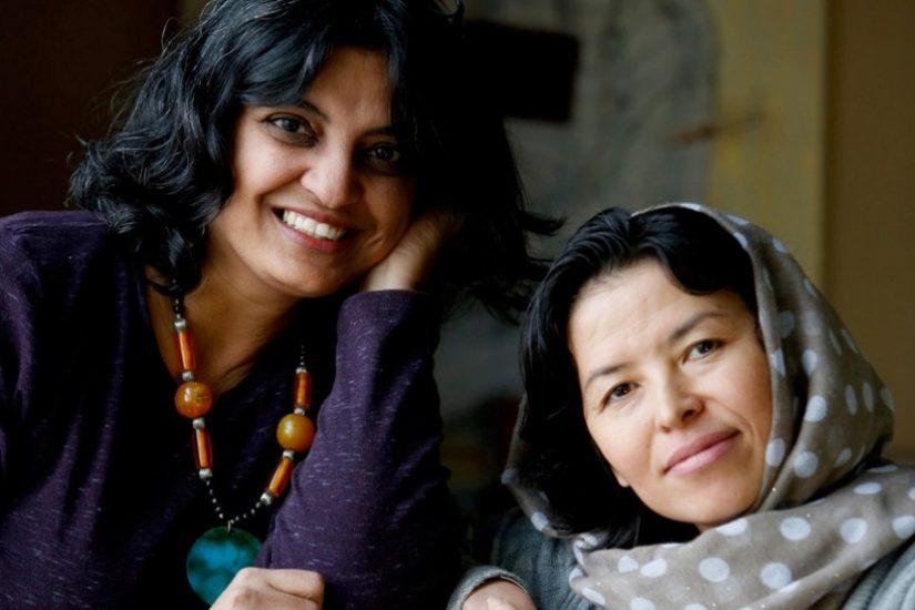 Sushmita Mazumdar (left) and Sughra Hussainy.  Photo by Susan Sterner.
