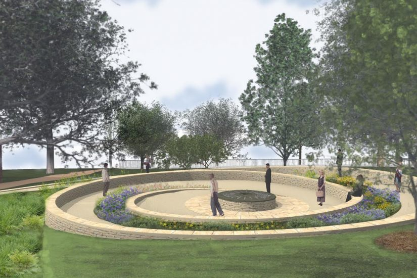Artist's rendering of the Virginia Indian Tribute