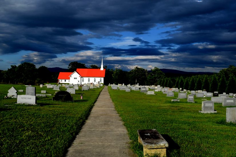 Woodland Union Church Cemetery. Photo courtesy Alison Bell