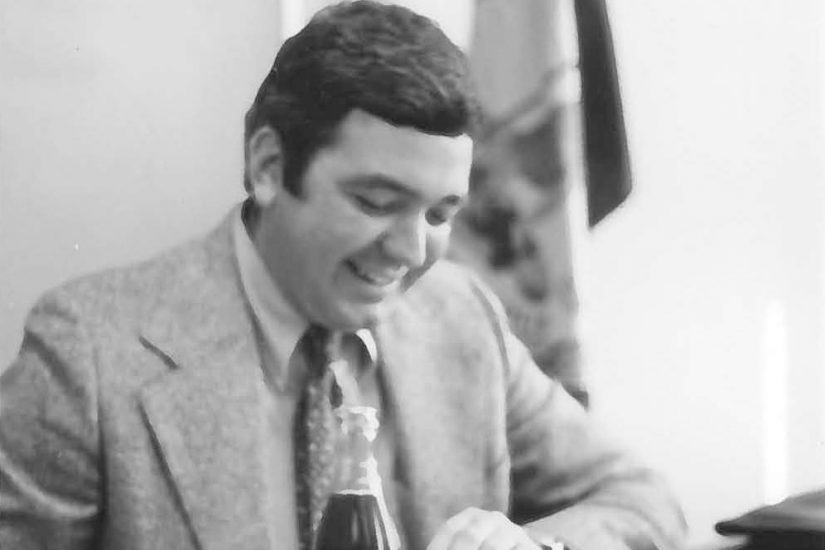 Rob Vaughan, the newly appointed head of VFH, is photographed during his travels throughout the state in 1974. Photographer unknown.