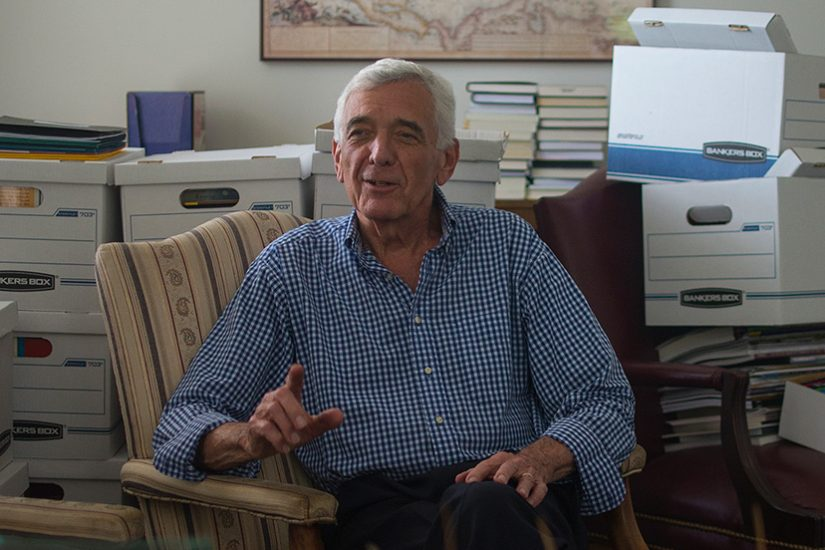 Rob Vaughan works in his office at VFH as he prepares for retirement. Photo by Pat Jarrett.
