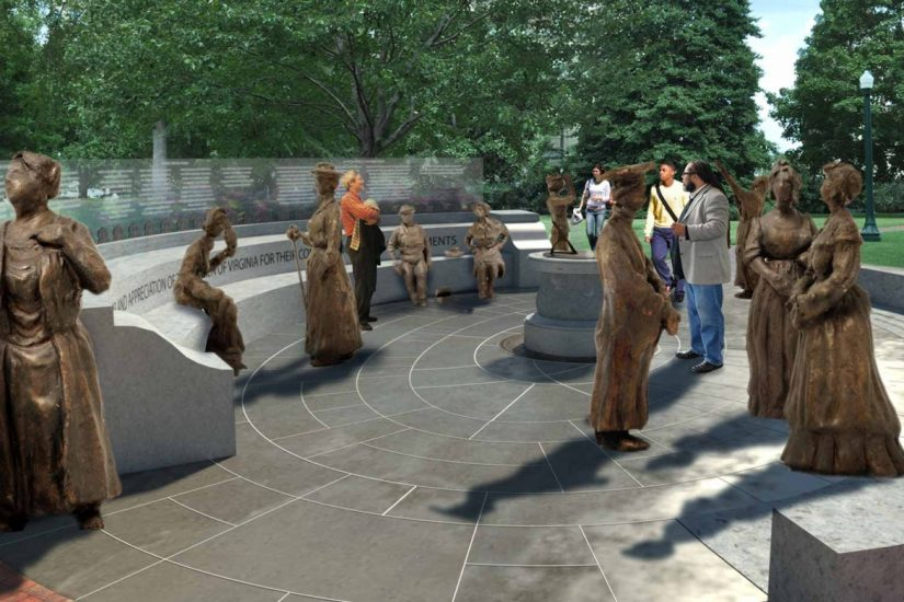 Rendering of the monument courtesy the Women's Monument Commission.