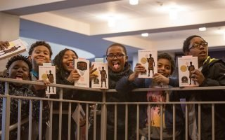 Local students are excited to see youth headliner Kwame Alexander during the 2017 Virginia Festival of the Book. Photo by Peter Hedlund.