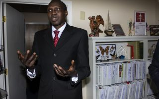 Bol Gai Deng is running for President of South Sudan from his home base in Richmond, Virginia. Photo by Pat Jarrett.