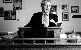 Master old regular baptist preacher Frank Newsome. Photo By: Morgan Miller