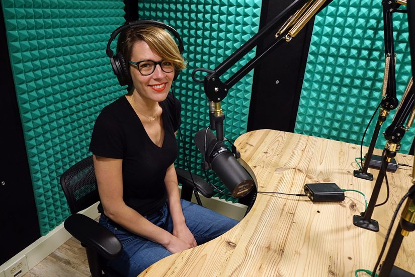 Podcast producer Kelley Libby