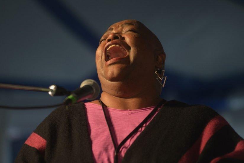 Gospel singer Cora Harvey Armstrong (photo by Pat Jarrett/Virginia Folklife Program)