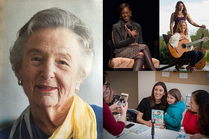 Clockwise: Rosel Schewel, Margot Lee Shetterly, Gina Sobel & Susan Gaeta, Angela Dominguez